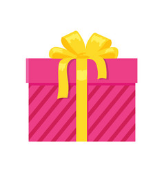 Parcel icon in decorative pink wrapping paper bow vector
