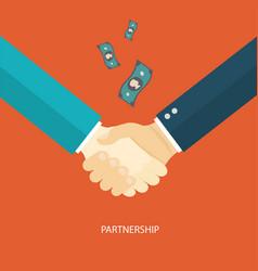 Partnership concept flat design vector