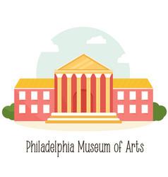 Phyladelphiaa museum of art famous landmark vector