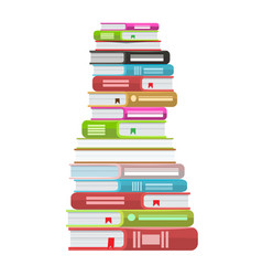 Pile of books icon stack of vector