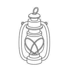 Portable kerosene lampafrican safari single icon vector