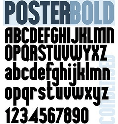 Poster Bold Classic style font vector