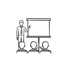 Presentation training hand drawn sketch icon vector