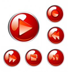 red buttons vector image vector image