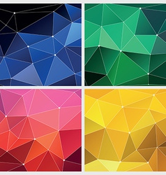 Red green yellow and blue geometric vector