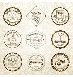 Restaurant label set black vector image