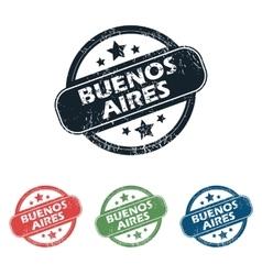 Round Buenos Aires stamp set vector