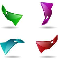 set arrow stickers vector image