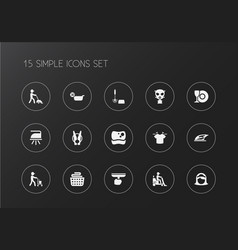 Set of 15 editable cleanup icons includes symbols vector
