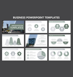 set of gray elements for multipurpose presentation vector image