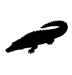 silhouette of crocodile icon of reptile vector image