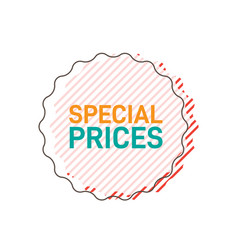 special prices sticker design for online shopping vector image
