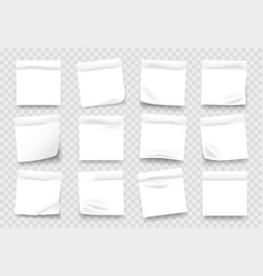 sticky notes white notepad sheets with crumpled vector image
