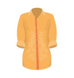 Stylish orange shirt for women women dressed in vector