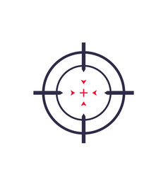 target aim crosshair icon vector image