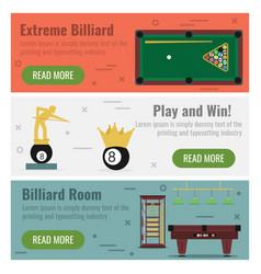 three banner for billiard vector image