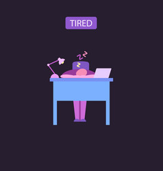 Tired flat icon vector