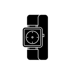 watch wrist icon black sign vector image