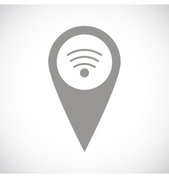 Wi-fi pointer black icon vector image