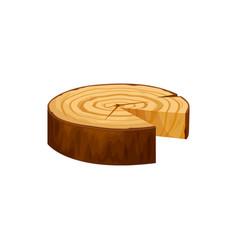 wood texture wavy ring slice tree isolate log vector image