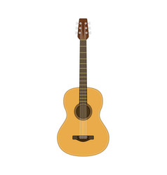 wooden acoustic guitar vector image