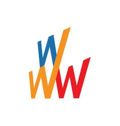 World wide web www logo design icon symbol sign vector