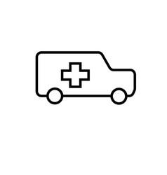 ambulance icon vector image vector image