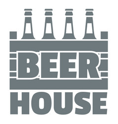 beer logo simple gray style vector image
