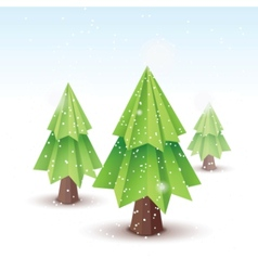 origami christmas tree vector image vector image