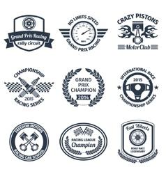 Racing emblems black vector image