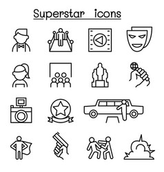 actor actress celebrity super star icon set in vector image