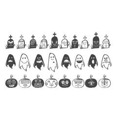 avatars in black vector image