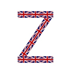 Letter Z made from United Kingdom flags vector image vector image