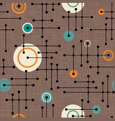 seamless abstract mid century modern pattern vector image