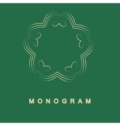 Set of monogram logo template vector image