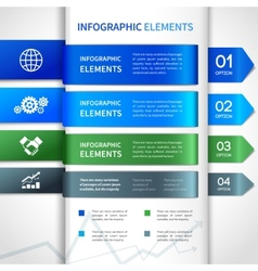 Abstract paper business infographics elements vector image