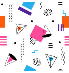 colorful seamless abstract geomertic pattern - vector image vector image