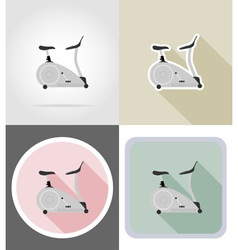 fitness flat icons 14 vector image