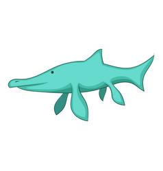 ichthyosaur icon cartoon style vector image vector image