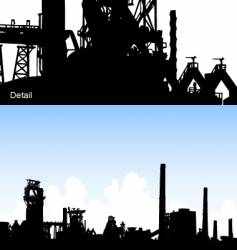 industrial skyline vector image