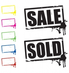sale and sold signs vector image