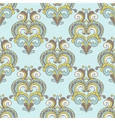 seamless vintage damask luxury pattern vector image vector image