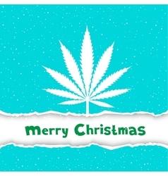 Christmas cannabis congratulation vector image vector image