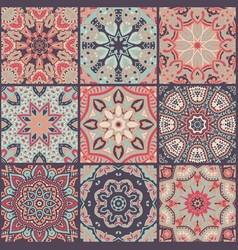 abstract patchwork seamless pattern vector image