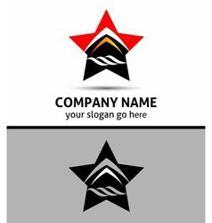 Abstract star logo sign Branding Identity Corporat vector