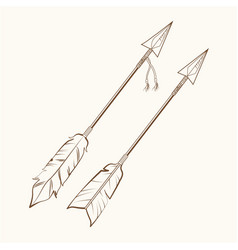 Arrows american indian symbol vector
