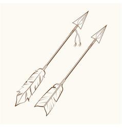 arrows american indian symbol vector image
