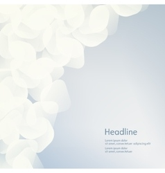 Background of white petals The effect of haze vector image