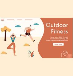 banner outdoor fitness vector image