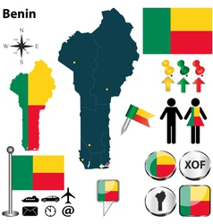 Benin map vector image